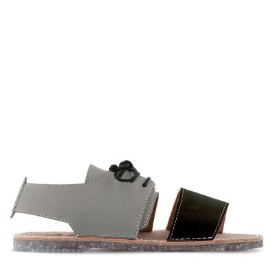 sandalia menorquinas hombre negra y gris