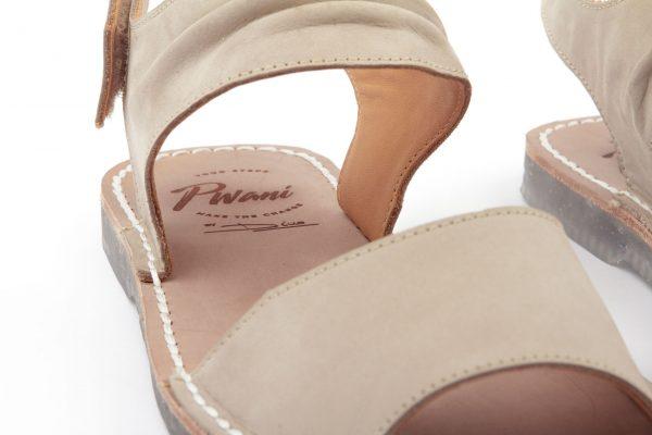 sandalia menorquina mujer beluga beig detalle