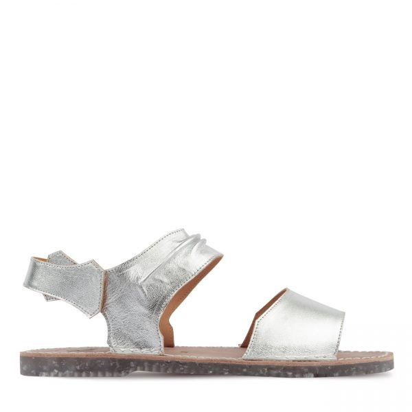 BLEUGA plata sandalia menorquina mujer